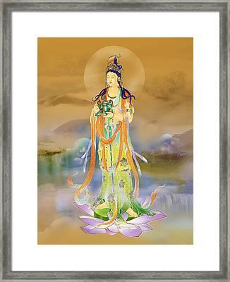 Vaidurya  Kuan Yin Framed Print by Lanjee Chee