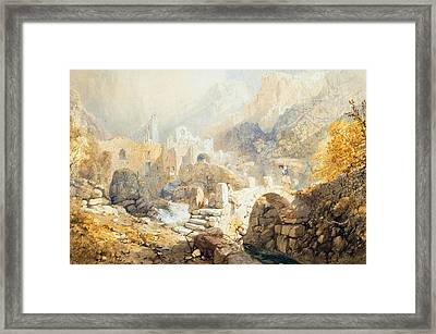 Val Di Ferriera Framed Print by James Baker Pyne
