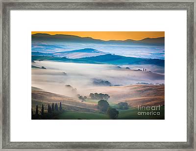 Val D'orcia Enchantment Framed Print by Inge Johnsson
