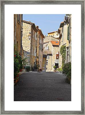 Valbonne - French Village Of Contradictions Framed Print by Christine Till