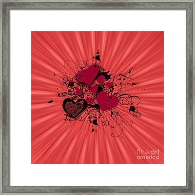 Valentine Day Illustration Framed Print by Darren Fisher