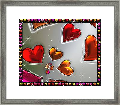 Valentine Evenings - For Metallic Paper Framed Print by Wendy J St Christopher