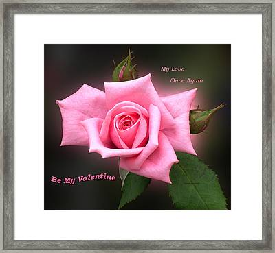 Valentine My Love Framed Print by Thomas Woolworth