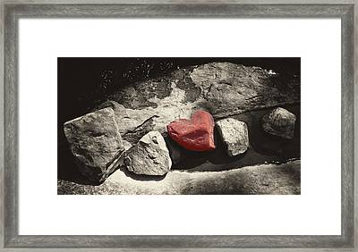 Valentine Rock Framed Print by Ron Regalado