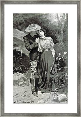 Framed Print featuring the photograph Valentines Day, 1898 by British Library