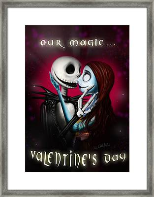 Valentine's Day Greeting Card Framed Print by Alessandro Della Pietra
