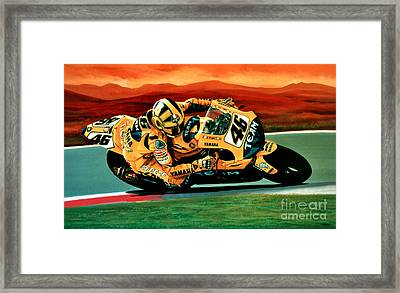 Valentino Rossi The Doctor Framed Print by Paul Meijering