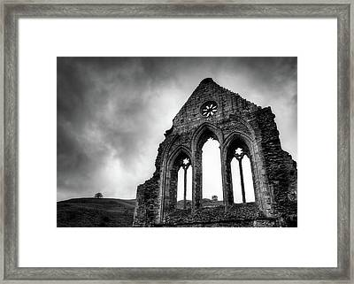 Valle Crucis Abbey Framed Print by Dave Bowman