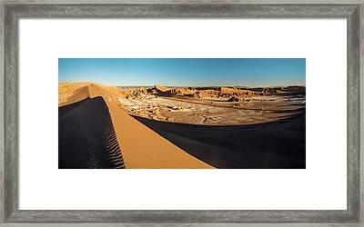 Valle De La Luna From Sans Dunes Framed Print by Panoramic Images