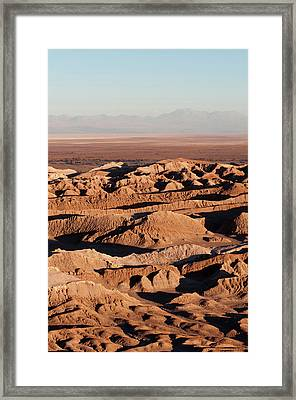 Valle De La Luna (valley Of The Moon Framed Print by Sergio Pitamitz