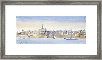 Valletta Skyline Framed Print by Lucy Willis