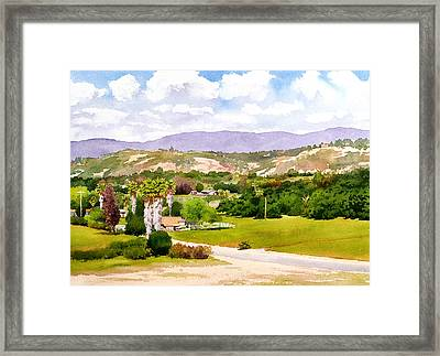 Valley Center California Framed Print by Mary Helmreich