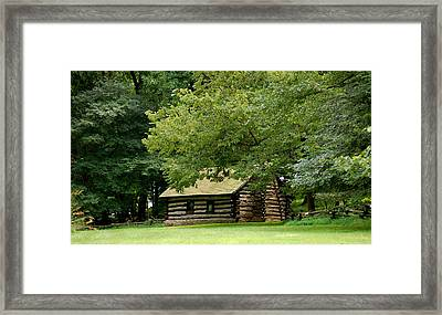 Valley Forge Cabin Framed Print by Sherlyn Morefield Gregg