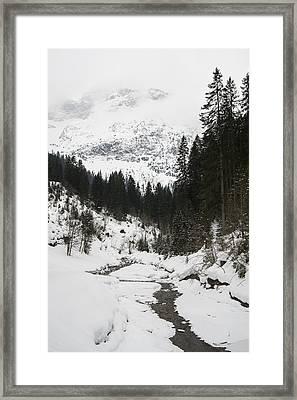 Valley In Winter Framed Print by Matthias Hauser
