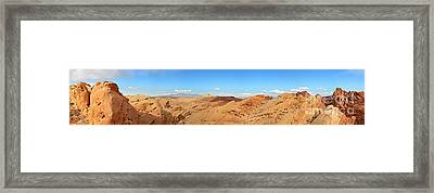 Valley Of Fire Pano Framed Print by Jane Rix