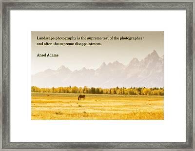 Valley Of Teton Framed Print by Jens Larsen