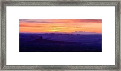 Valley Of The Gods Sunrise Utah Four Corners Monument Valley Framed Print by Silvio Ligutti