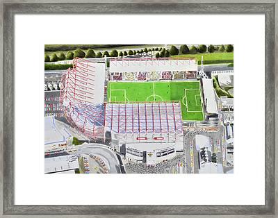Valley Parade Stadia Art - Bradford City Fc Framed Print by Brian Casey