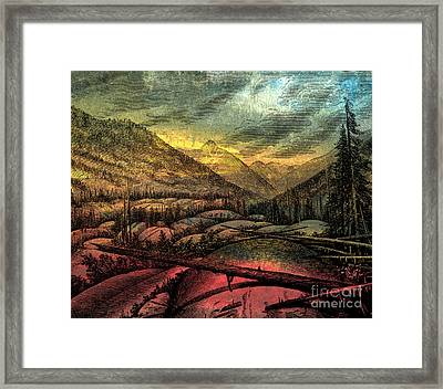 Valley Sublime Framed Print by R Kyllo