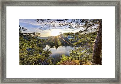 Valley Sunrise Framed Print by Bill Wakeley