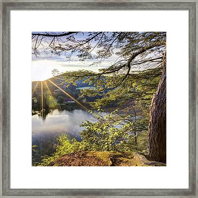 Valley Sunrise Square Framed Print by Bill Wakeley