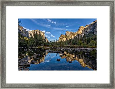 Valley View I Framed Print by Peter Tellone