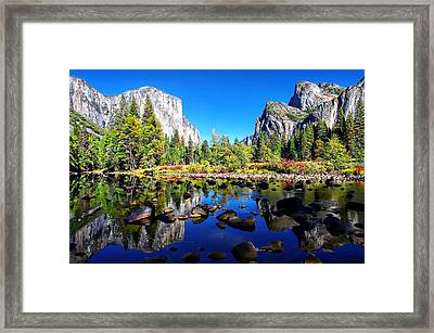 Valley View Reflection Yosemite National Park Framed Print by Scott McGuire