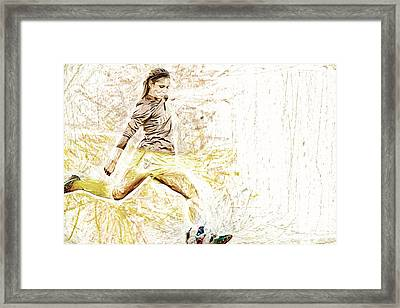 Valparaiso Soccer Sydney Rumple Painted Digitally Etc Framed Print by David Haskett