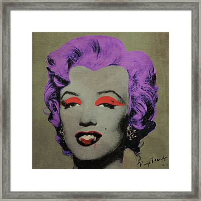 Vampire Marilyn Variant 3 Framed Print by Filippo B