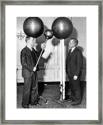 Van De Graaff And Karl Compton Framed Print by Massachusetts Institute Of Technology Museum And Smithsonian Institution, Courtesy Aip Emilio Segre Visual Archives