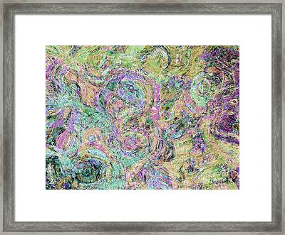 Van Gogh Style Abstract I Framed Print by Debbie Portwood
