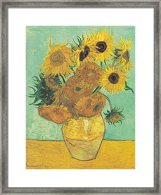 Van Gogh Sunflowers Framed Print by Georgia Fowler