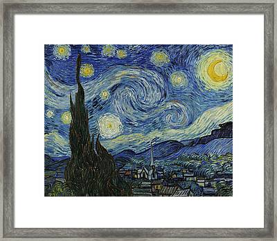 Van Gogh The Starry Night Framed Print by Movie Poster Prints