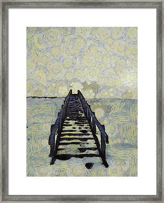Van Gogh's Starry Walk Framed Print by Dan Sproul
