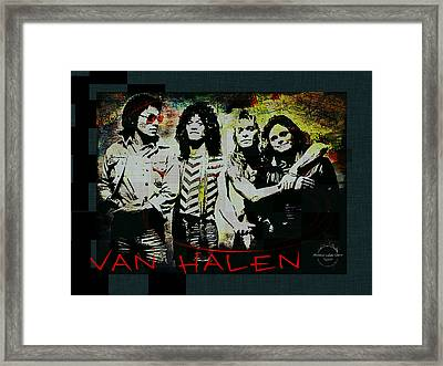 Van Halen - Ain't Talkin' 'bout Love Framed Print by Absinthe Art By Michelle LeAnn Scott