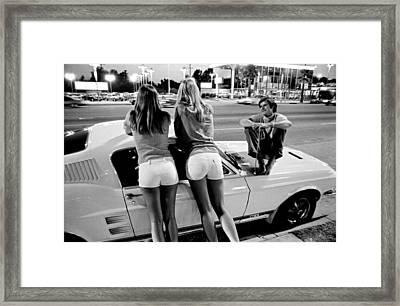 Vn Blvd.-001-34 White Shorts Framed Print by Richard McCloskey