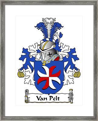 Van Pelt Coat Of Arms Dutch Framed Print by Heraldry