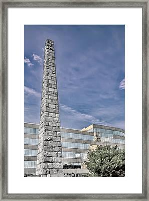 Vance Monument Framed Print by John Haldane