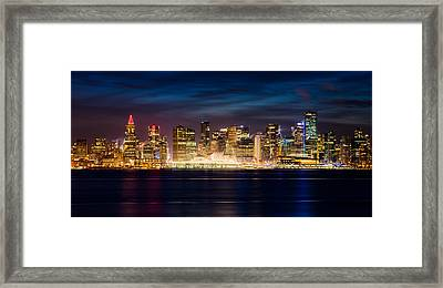 Vancouver At Christmas Framed Print by Alexis Birkill