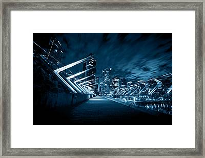 Vancouver At Night Framed Print by Alex Land