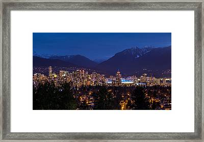 Vancouver At Night Framed Print by Pierre Leclerc Photography