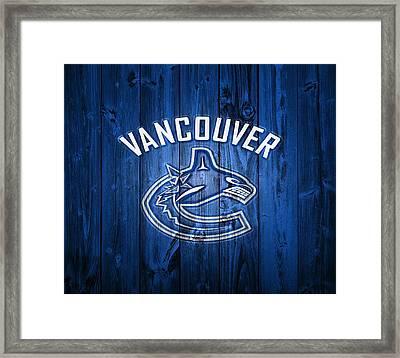 Vancouver Canucks Barn Door Framed Print by Dan Sproul