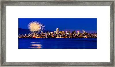 Vancouver Celebration Of Light Fireworks 2013 - Day 1 Framed Print by Alexis Birkill