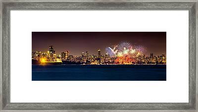Vancouver Celebration Of Light Fireworks 2013 - Day 2 Framed Print by Alexis Birkill