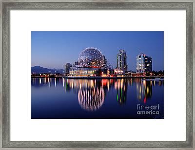 Vancouver - False Creek At Dusk Framed Print by Terry Elniski
