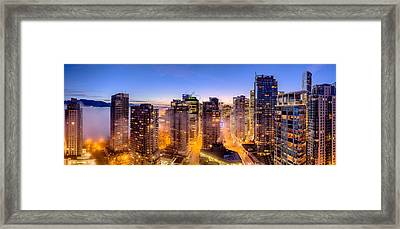 Vancouver Fog Framed Print by Alexis Birkill