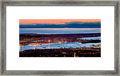 Vancouver From Above Framed Print by Alexis Birkill