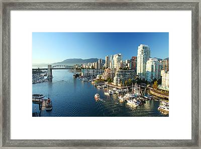 Vancouver Harbour Framed Print by Dan Breckwoldt