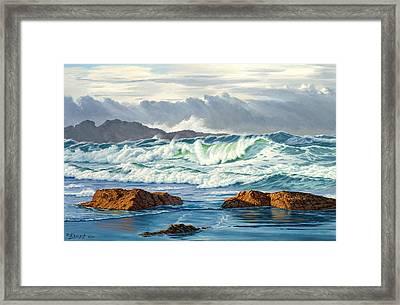 Vancouver Island Surf Framed Print by Paul Krapf