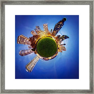 Vancouver Little Planet Framed Print by Alexis Birkill